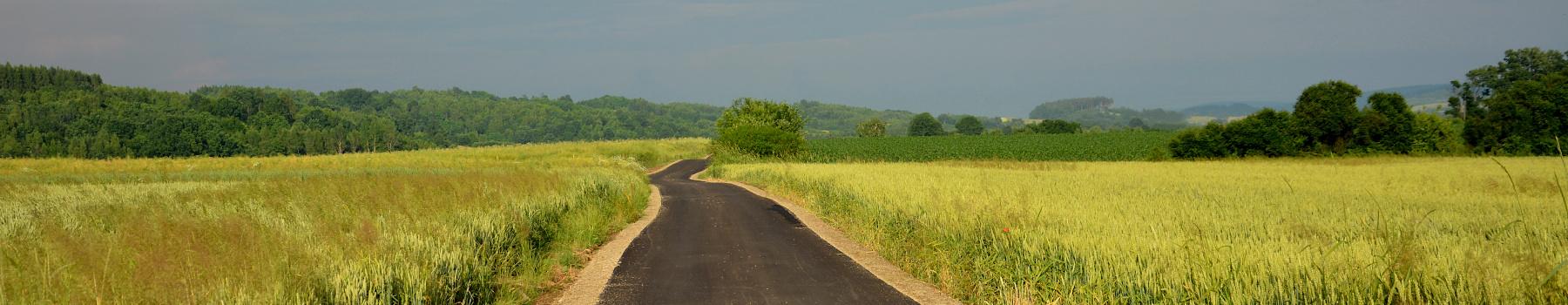 Panorama z drogą